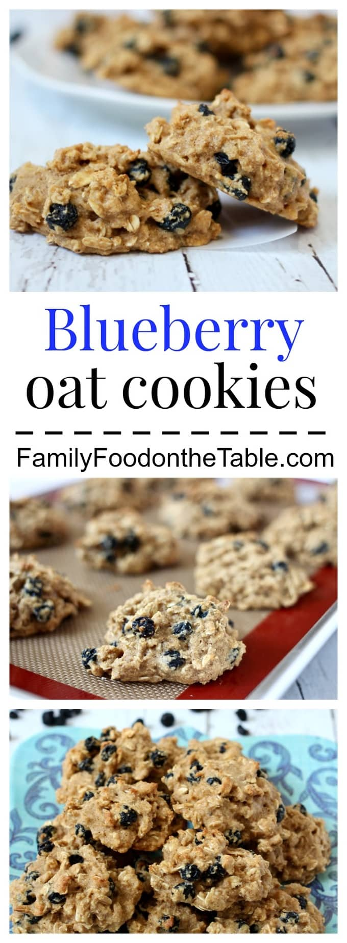 Whole grain, naturally sweetened blueberry oat cookies are the perfect snack!