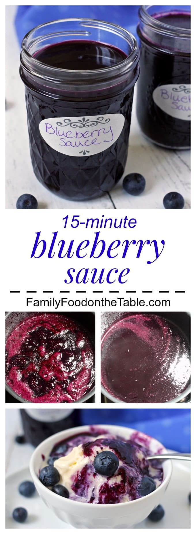 Homemade blueberry sauce is easy to make with just 5 ingredients and ...