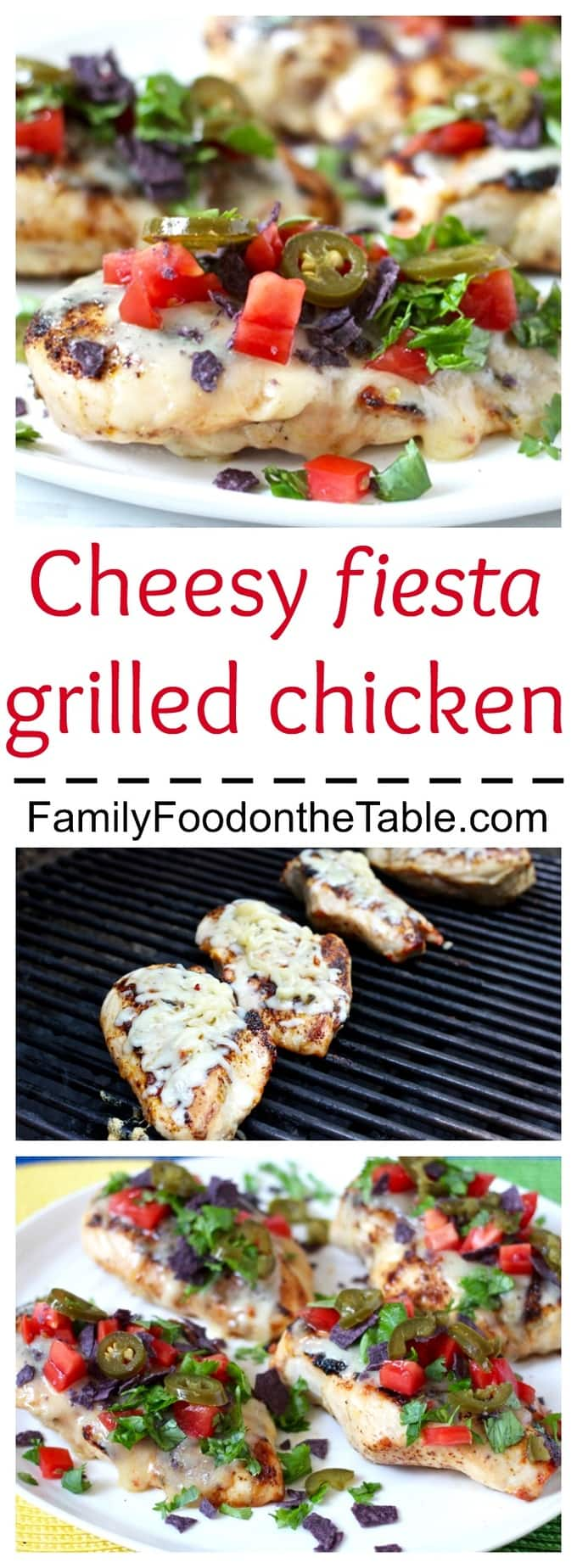 This fun, flavorful fiesta grilled chicken can be dressed up and used in so many ways! | FamilyFoodontheTable.com