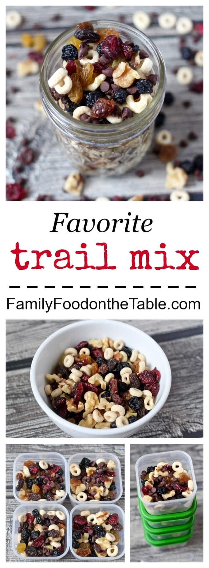 Homemade trail mix is an easy, portable, healthy snack to have on hand!