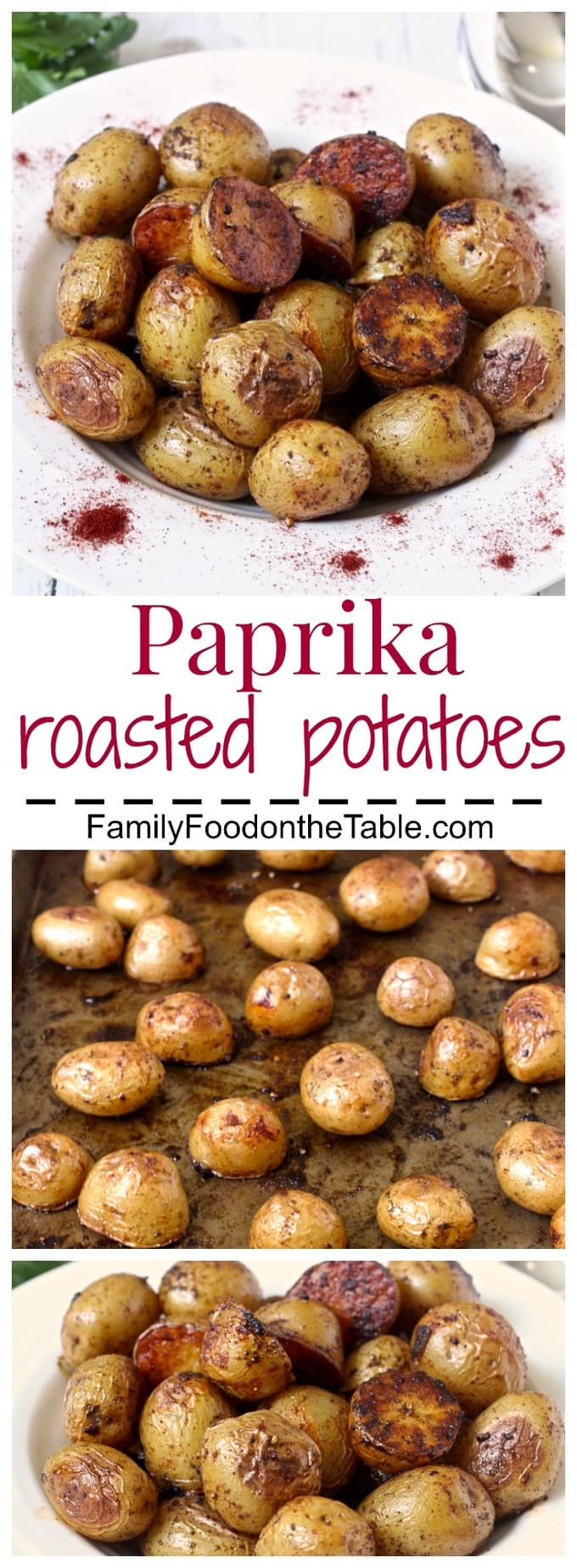 Paprika roasted potatoes are an easy, flavorful side dish! | FamilyFoodontheTable.com