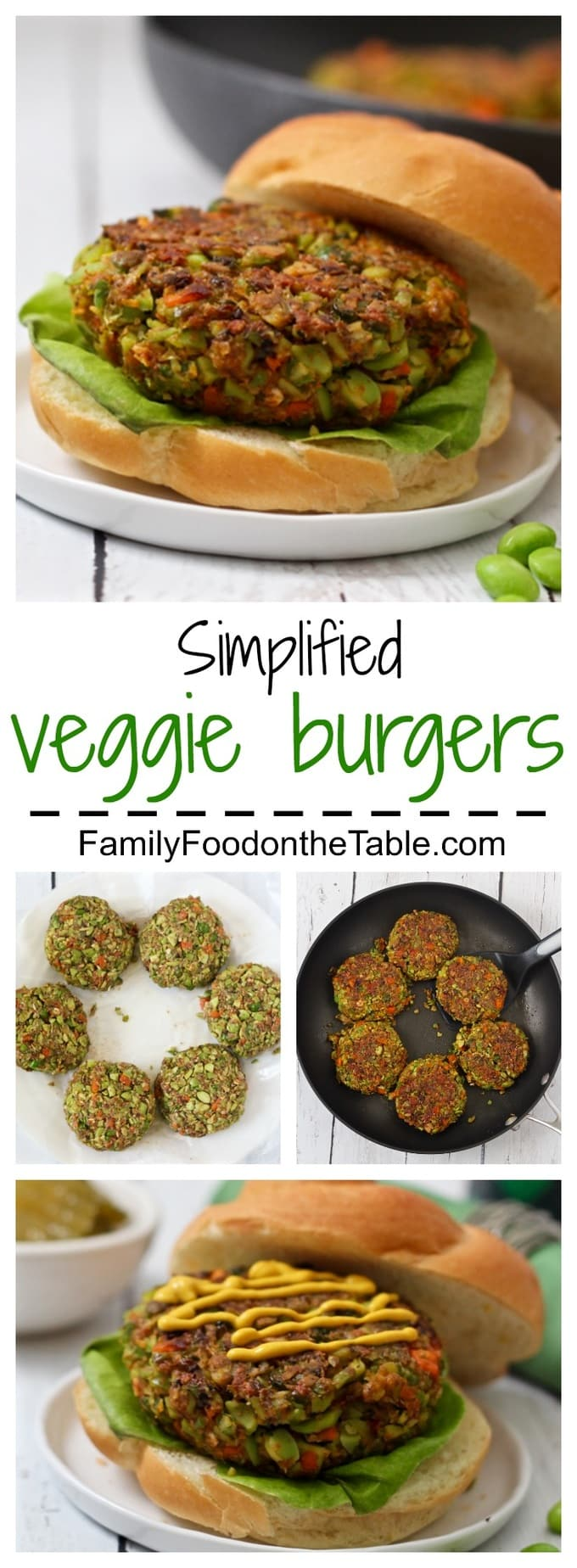 3 frozen vegetables plus seasonings are all you need to make these tasty veggie burgers!
