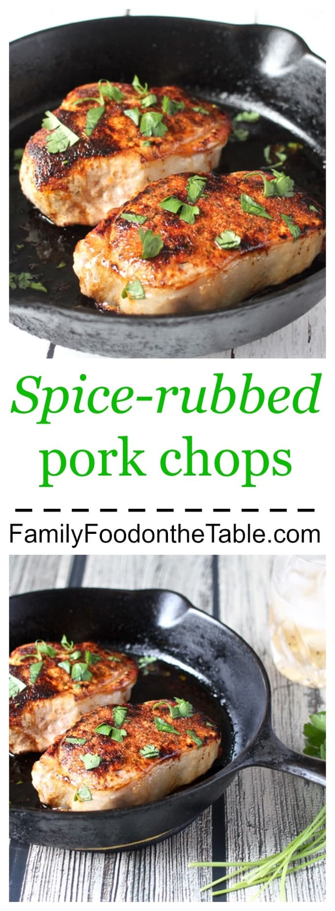The bold spice mixture brings tons of flavor to these easy pork chops!