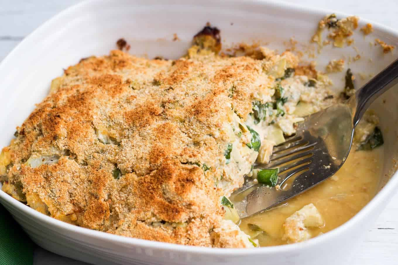 Spinach artichoke chicken casserole - Family Food on the Table