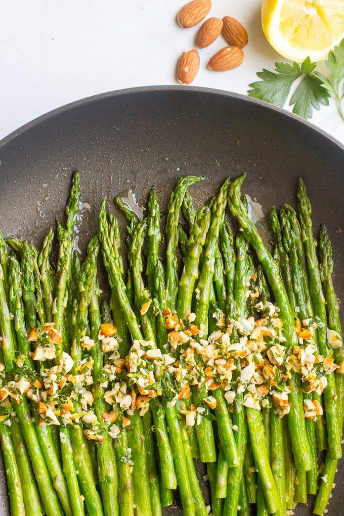 Asparagus almondine is an easy, 15-minute side dish that's sure to impress!