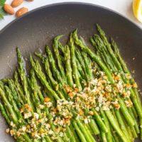 Asparagus almondine