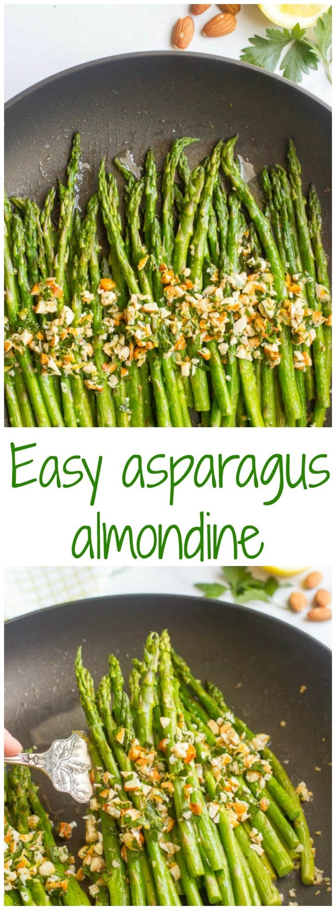 Asparagus almondine is a super easy - and fast - side dish that's sure to impress!