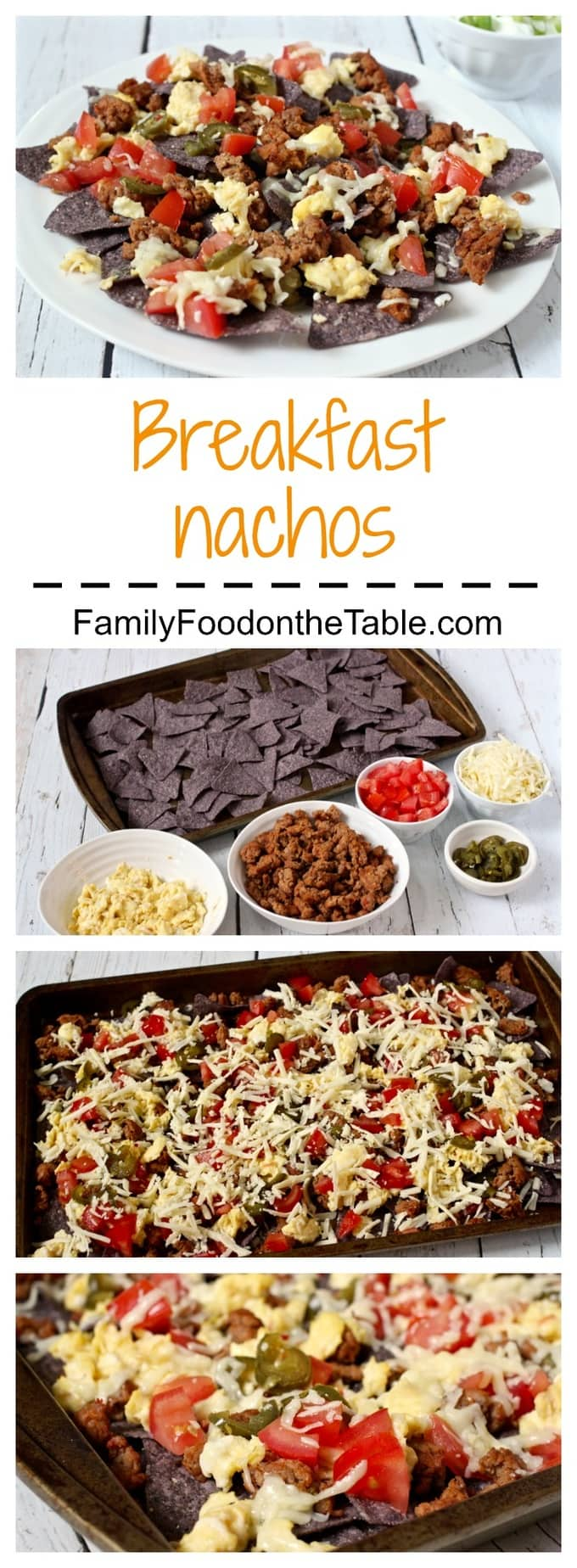 Breakfast nachos - a fun and delicious breakfast (or breakfast for dinner)