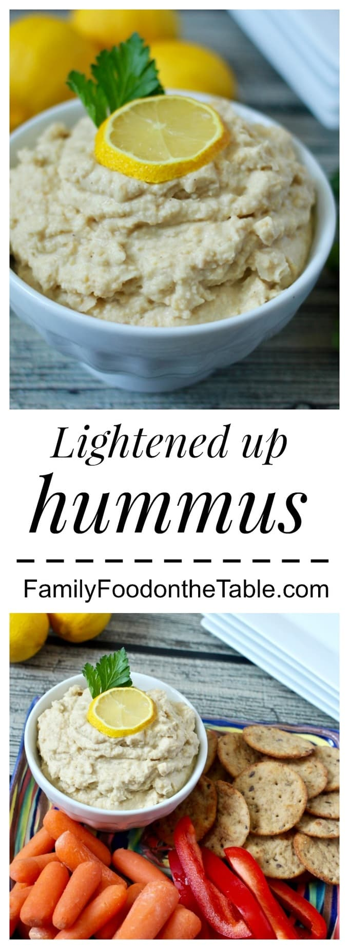A super creamy, bright 5-ingredient homemade hummus recipe, ready in just 5 minutes! | FamilyFoodontheTable.com