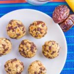 No-bake chocolate chip cookie balls {4 ingredients}