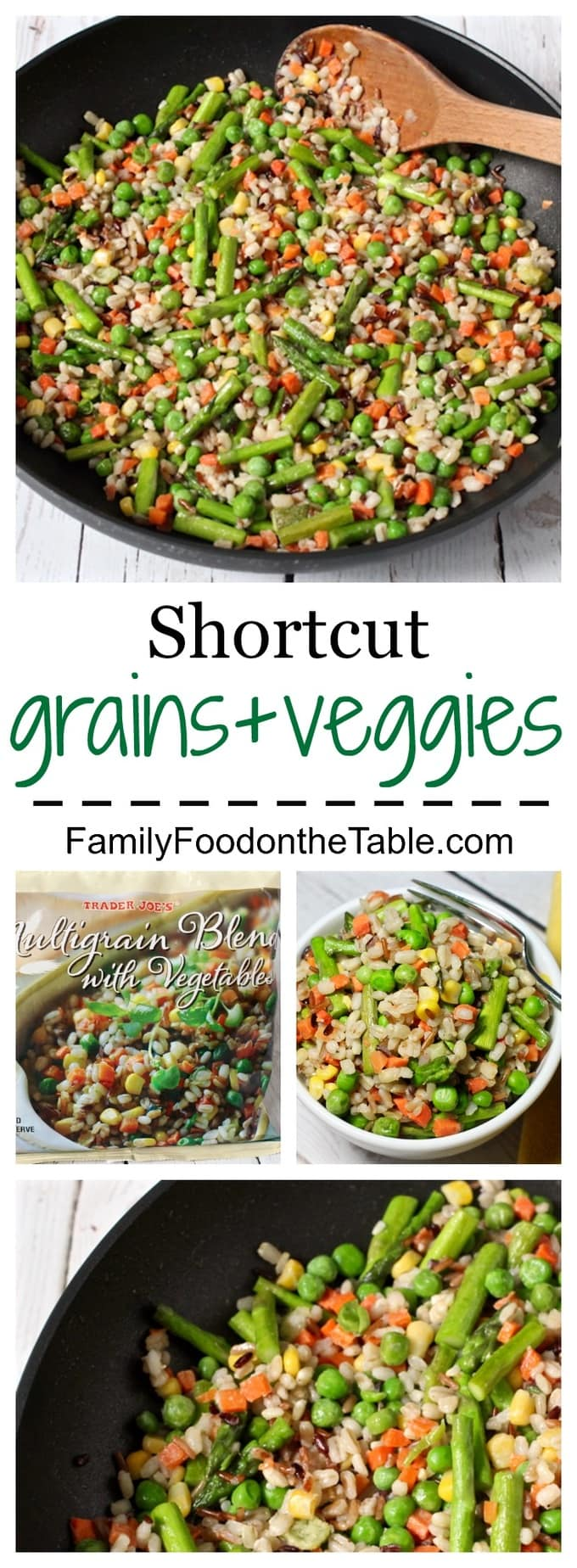 A super easy, but wholesome, shortcut side for dinner on a busy weeknight!