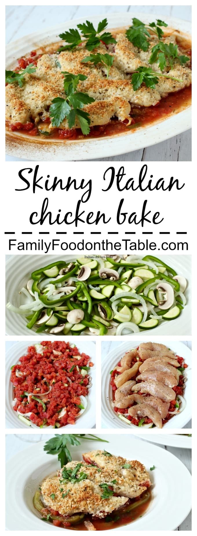 A low-carb, veggie-packed healthy Italian dinner with crispy chicken tenders!