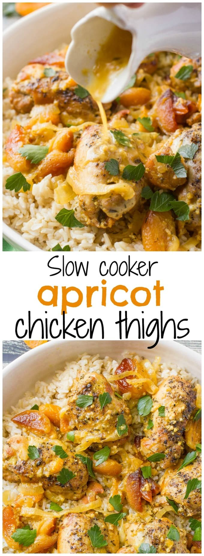 Slow Cooker Apricot Chicken Thighs A Simple Dinner Recipe With Big Fresh Flavors And An