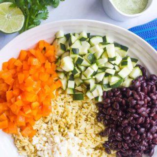 Southwestern orzo salad