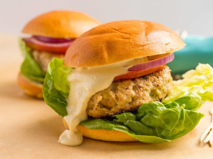 Cheddar chicken burgers - Family Food on the Table