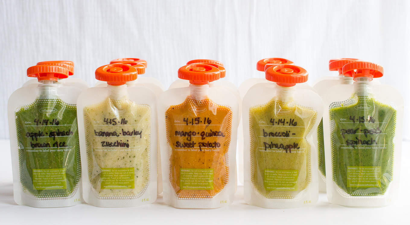 How to make homemade baby food pouches and 5 easy recipes!