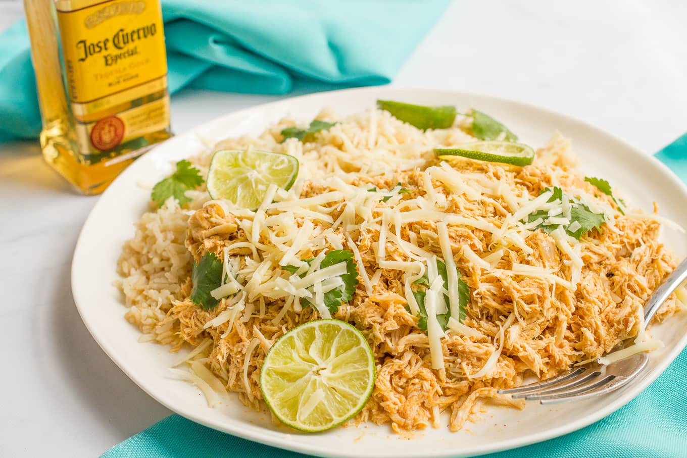Slow cooker tequila chicken