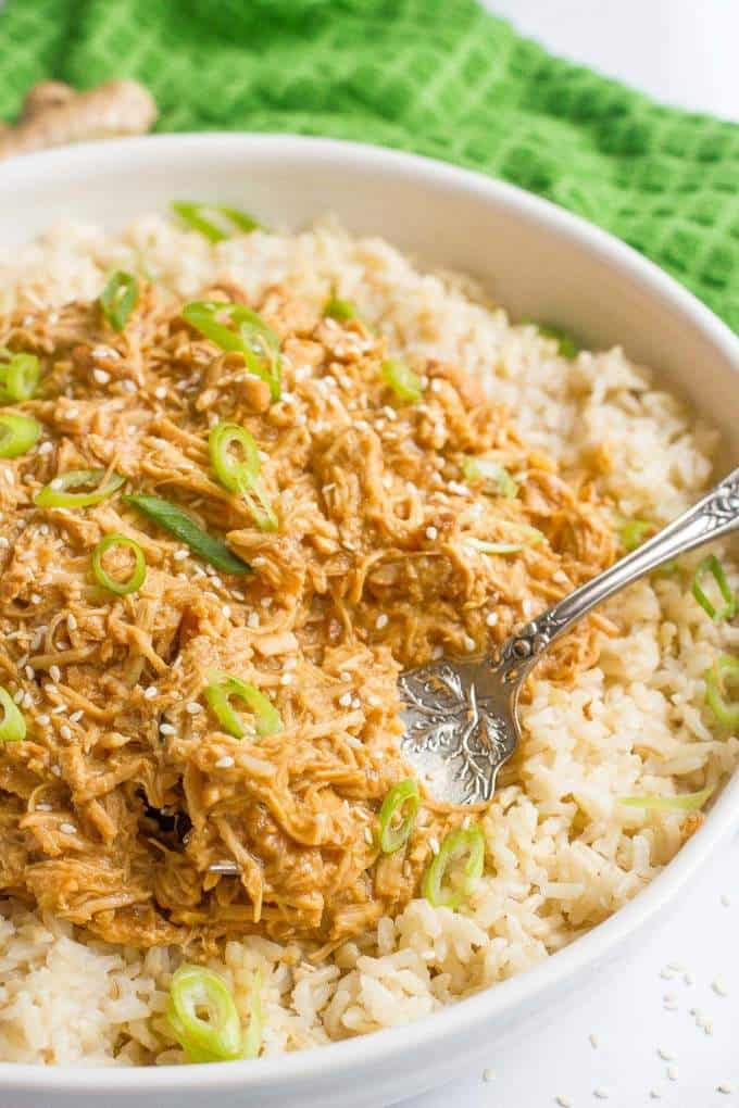 Slow cooker teriyaki chicken family food on the table slow cooker teriyaki chicken a super easy and healthy dinner with a silky forumfinder Images