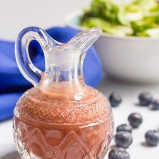 Blender balsamic blueberry vinaigrette