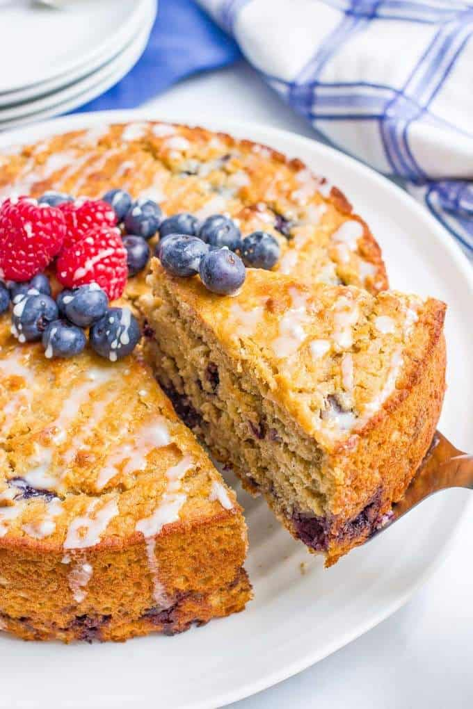 Gluten Free Lemon Blueberry Bundt Cake