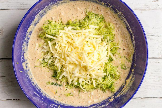Savory whole wheat zucchini cheddar cheese waffles