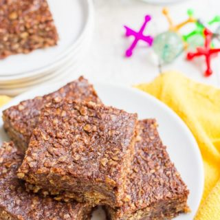 Healthier no-bake cookie bars
