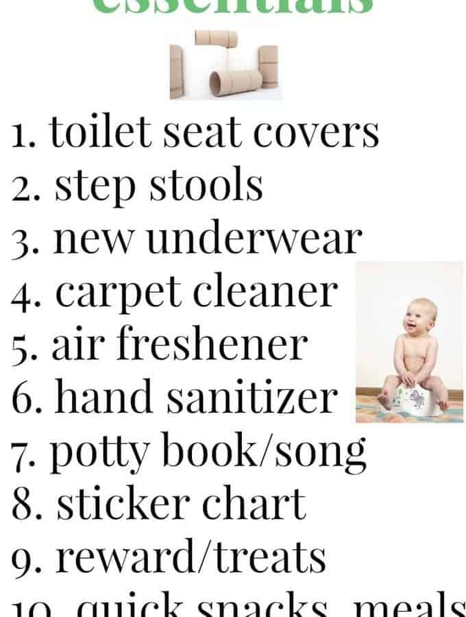 Potty training essentials - what you need to survive