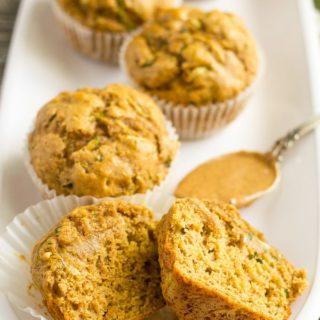 Almond butter zucchini muffins