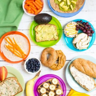 A round-up of more than 20 sandwich spreads for some new healthy school lunch ideas for kids!