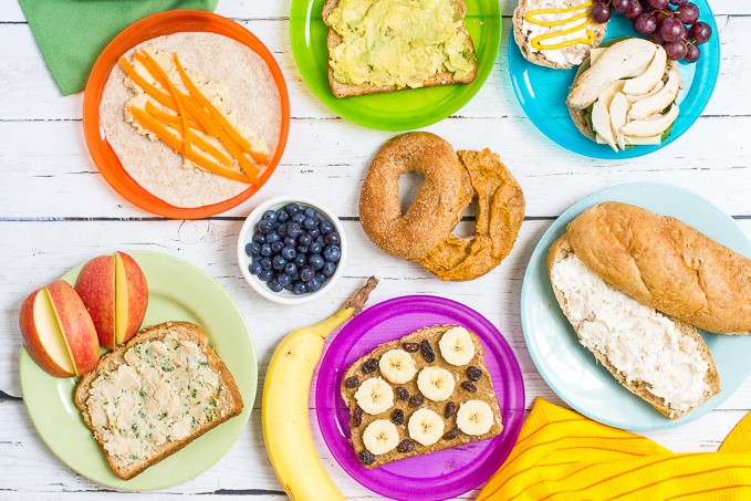 More than 20 sandwich spreads for some new healthy school lunch ideas for kids!