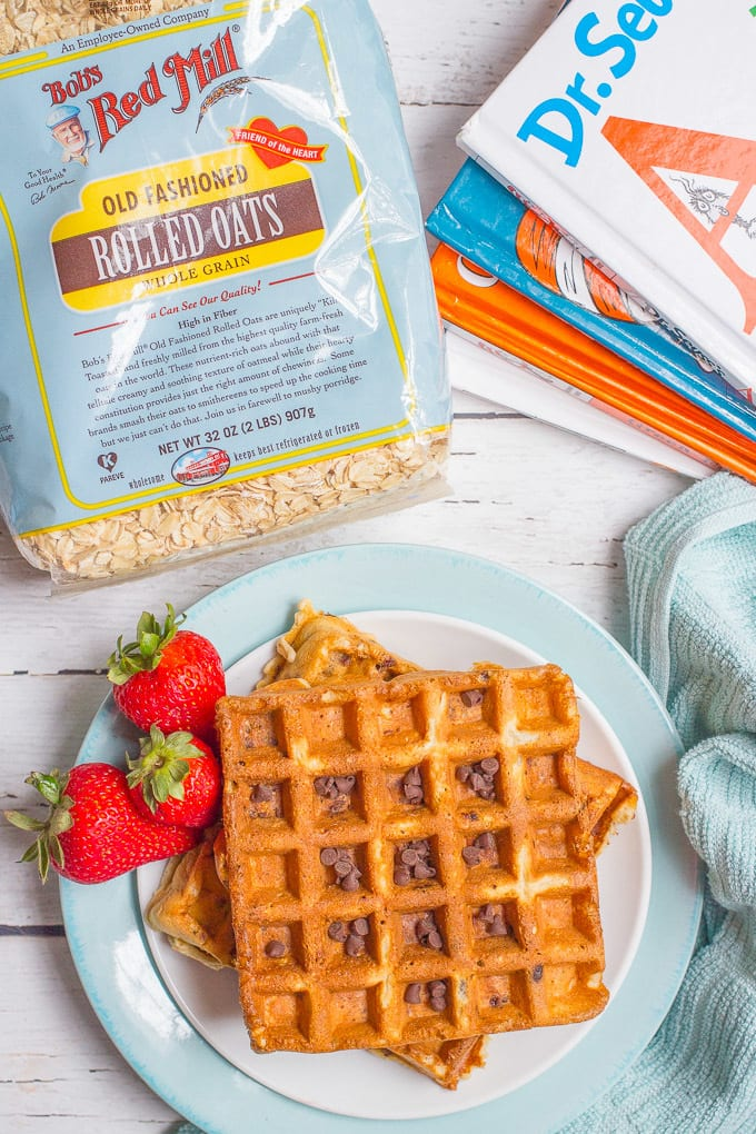 how to make chocolate chip waffles from scratch