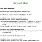 Healthy school lunch ideas printable