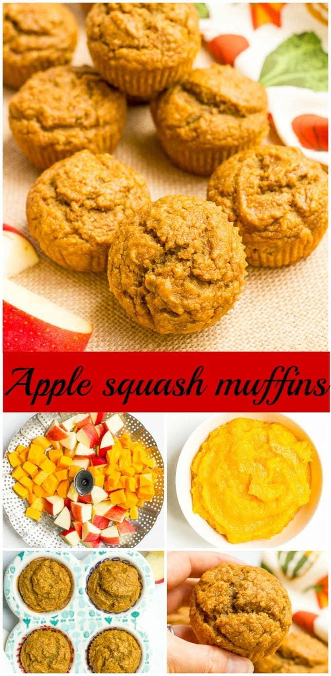 Apple and butternut squash muffins are a great, healthy fall treat - delicious for breakfast or packing in school lunches! | www.familyfoodonthetable.com