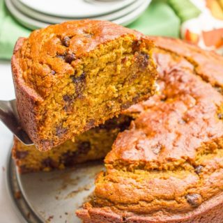 Banana pumpkin chocolate chip cake
