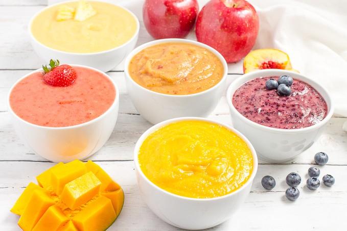 Homemade applesauce: 5 fruit flavors