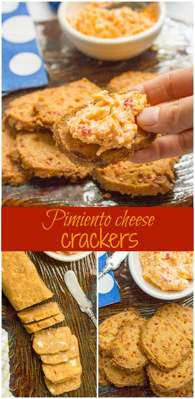 cheese crackers -- This easy 4-ingredient recipe (just pimiento cheese ...