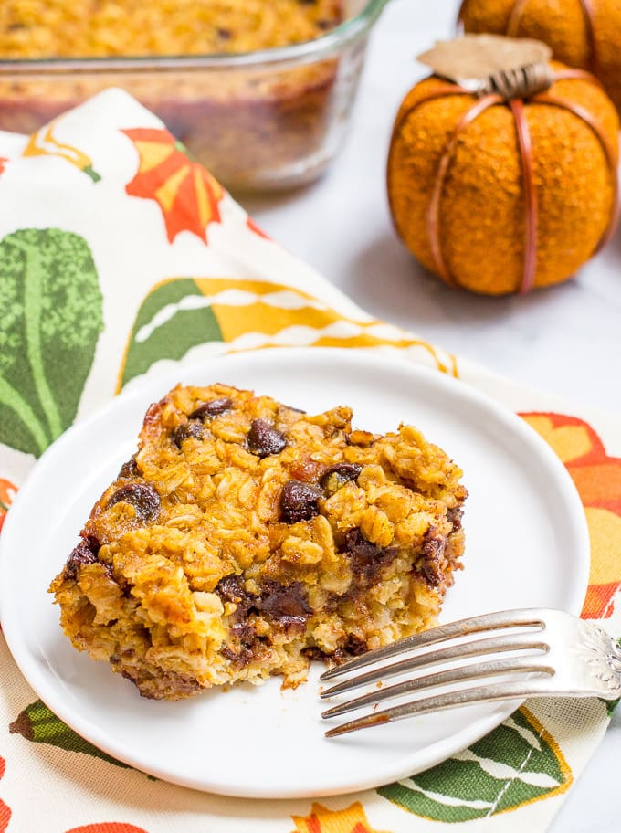 Pumpkin baked oatmeal with chocolate chips - Family Food ...