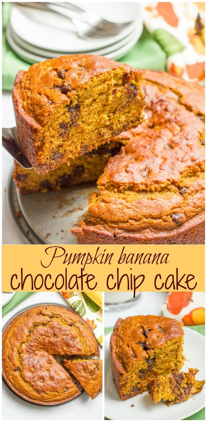 pumpkin-banana-chocolate-chip-cake-pin-collage