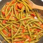 Sautéed green beans and tomatoes