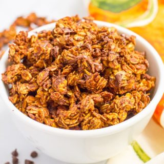 Chocolate pumpkin granola