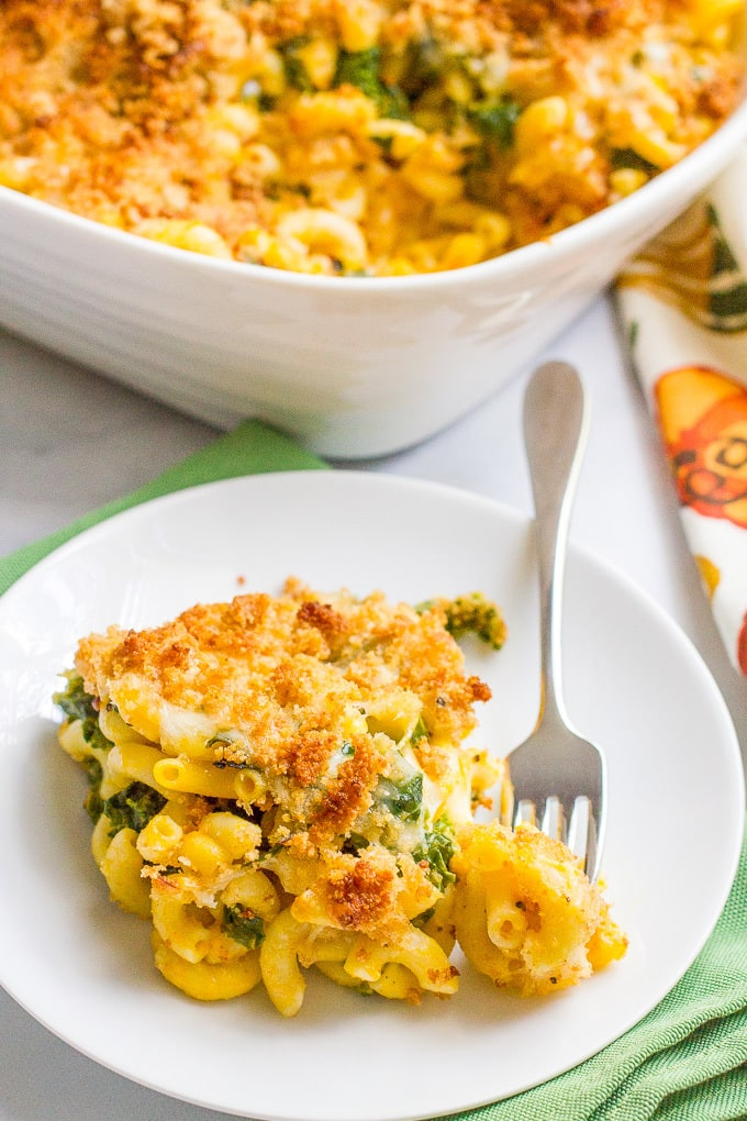 Kale and butternut squash mac and cheese is an easy, healthy and deliciously creamy side dish!