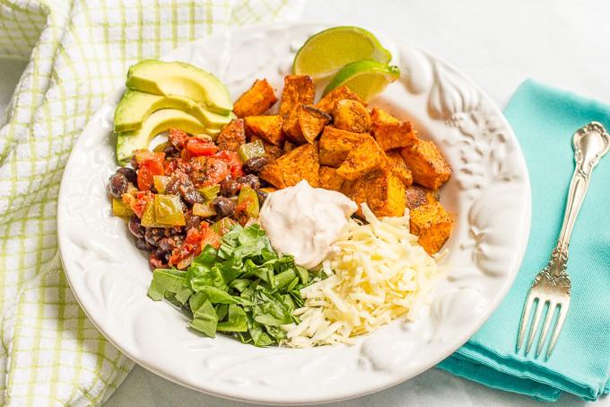 Taco-flavored vegetarian power bowl