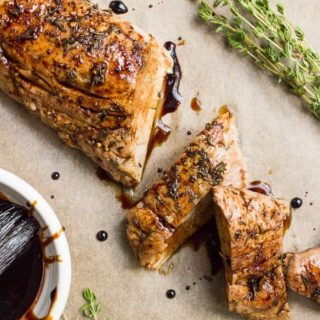 Balsamic pork tenderloin with thyme
