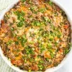 Make-ahead healthy sausage breakfast casserole