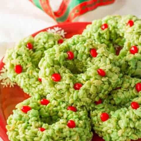 Rice Krispies Christmas wreaths