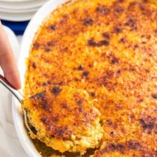 Overnight cheesy grits casserole