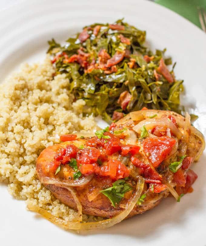 Slow cooker balsamic chicken dinner