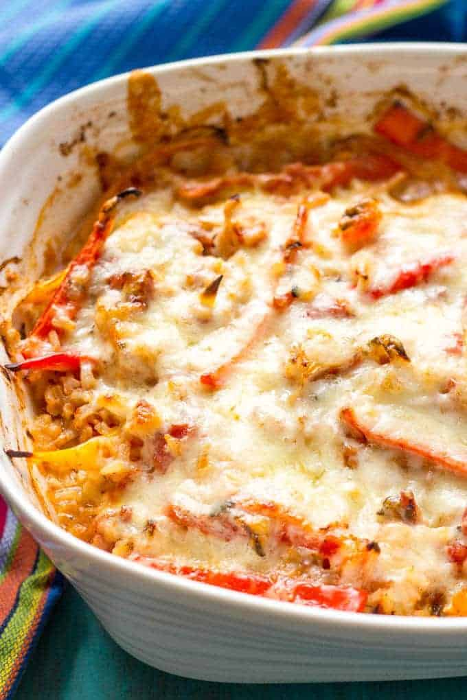 Healthy chicken fajita casserole family food on the table recipe notes forumfinder Choice Image