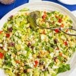 Mediterranean chopped salad (+ video)
