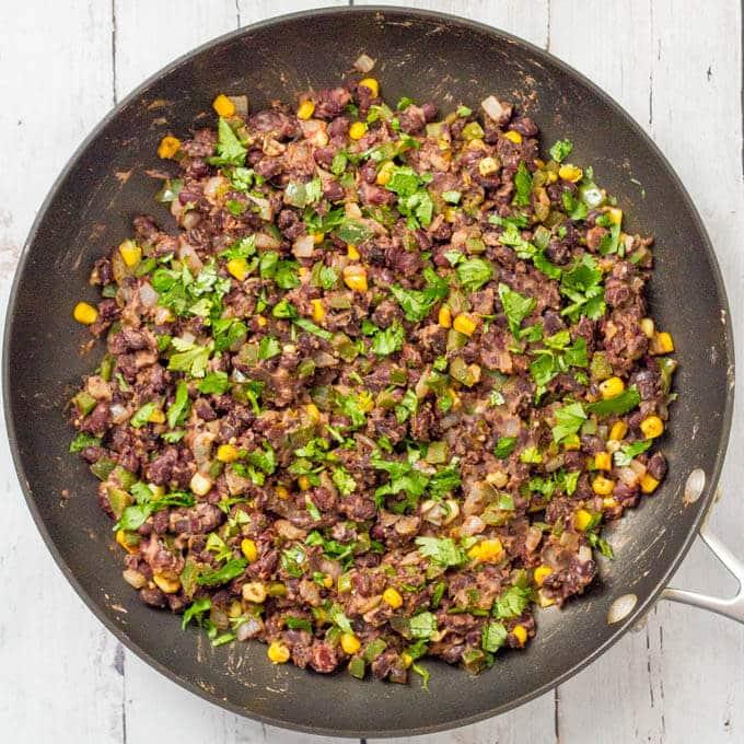 Veggie burger scramble